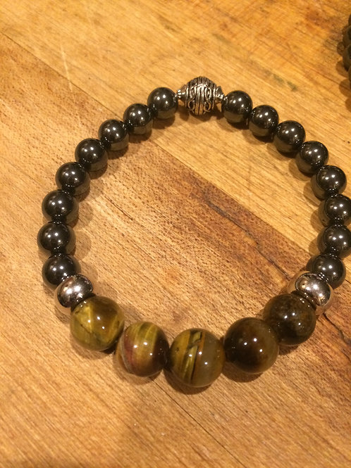 Men's Tiger Eye and Hematite