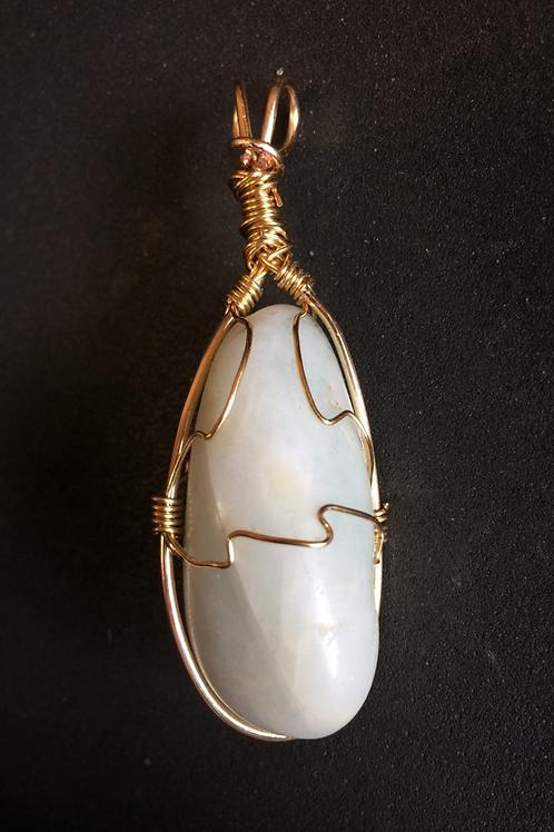 Oblong Aquamarine Pendant