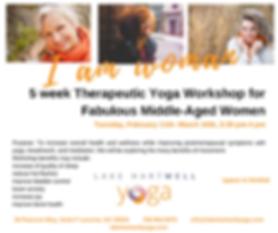 5 week Therapeutic Yoga Workshop to reli