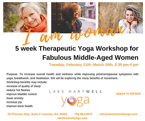 5 week Therapeutic Yoga Workshop to reli