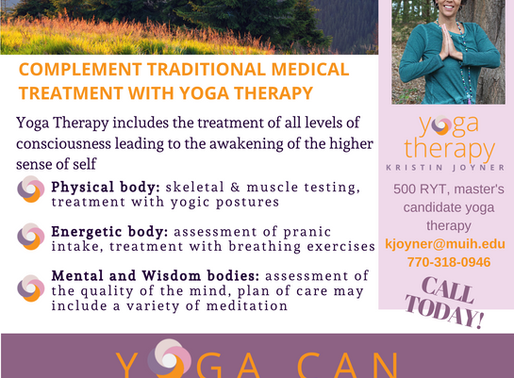 Complement Traditional Medical Treatment with Yoga Therapy.