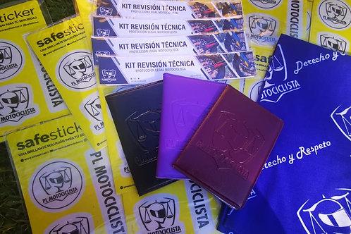 Porta Documentos, Bandana, Stickers y Kit RT.