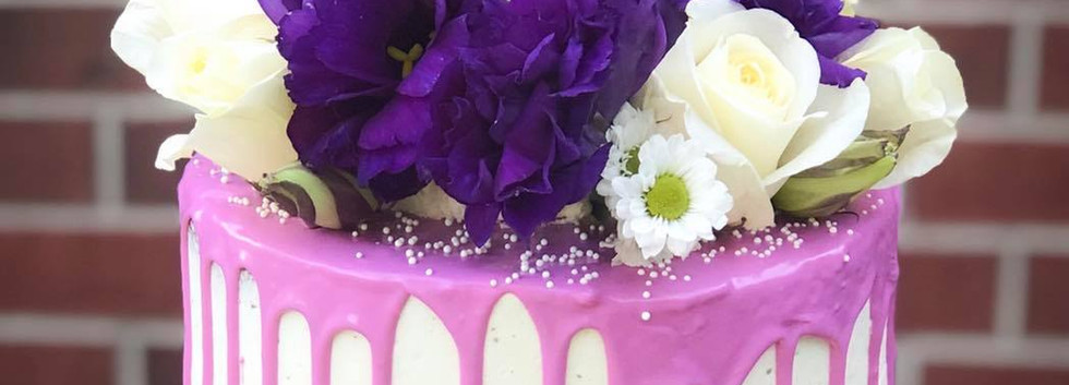 Floral Purple Drip Cake.jpg