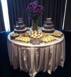 Lavendar & Silver Desserts