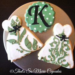 Damask Bridal Shower Cookies