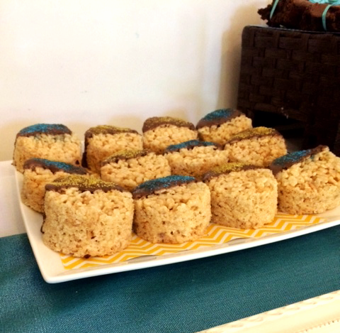Chocolate Dipped Rice Krispy Treats