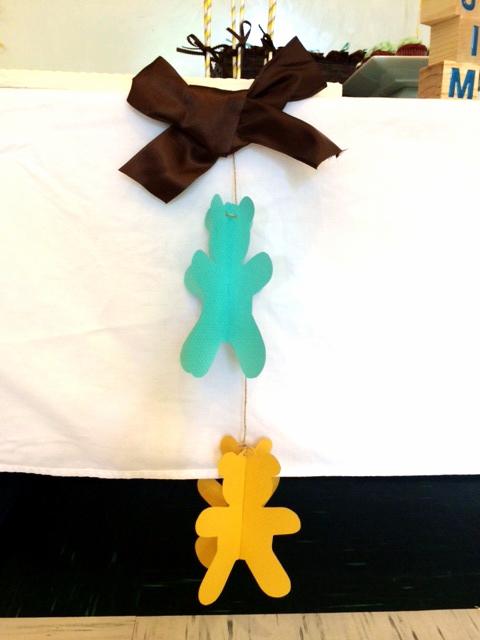 3D Teddy Bear Hanging Garland