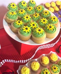 Cupcakes w/Flowers