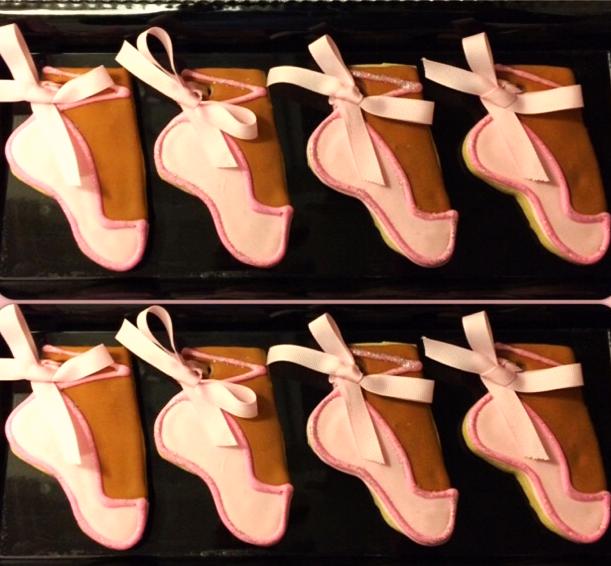 Ballerina Slipper Cookies