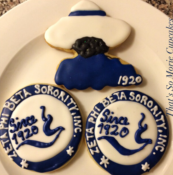 Zeta Phi Beta Sorority Cookies