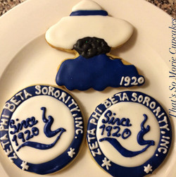Zeta Phi Beta Sorority Cookies