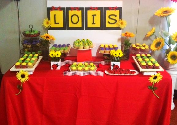 LadyBugs & Sunflowers Dessert Table