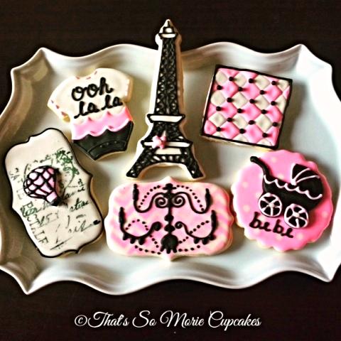 Paris Baby Shower Cookies