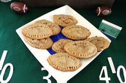 Football Shaped Apple Pie Cookies