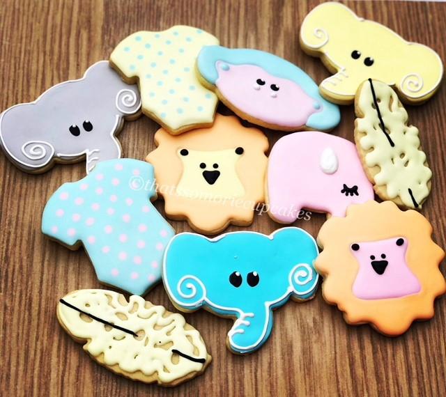 Jungle cookies - Pastel