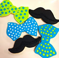 Bowties & Mustaches Cookies