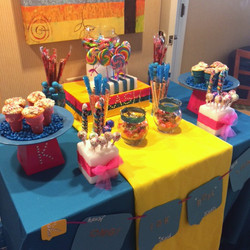 Multicolor Candy Table