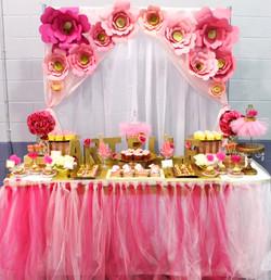 """""""Roses & Tutus"""" Dessert Table"""