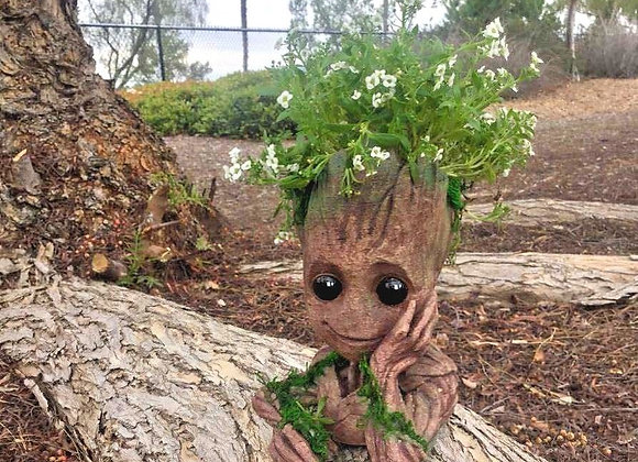 """Baby Groot Plant Pot 7.5"""" 3d Printed MiniGarden Home Decor"""