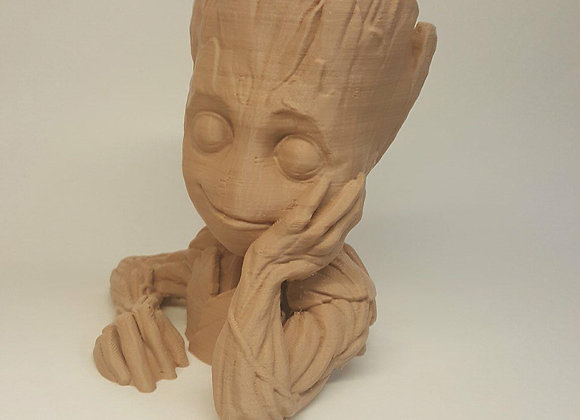 "Baby Groot Plant Pot great for painting 6"" tall Home Decor"