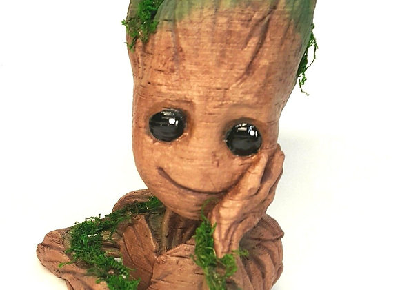 "Baby Groot Plant Pot 6"" 3d Printed MiniGarden Home Decor"