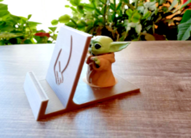 Star Wars Baby Yoda phone Holder Mount Stand 3D Printed