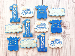 Little Prince 1st Birthday Cookies