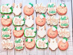 A Little Cutie Baby Shower Cookies