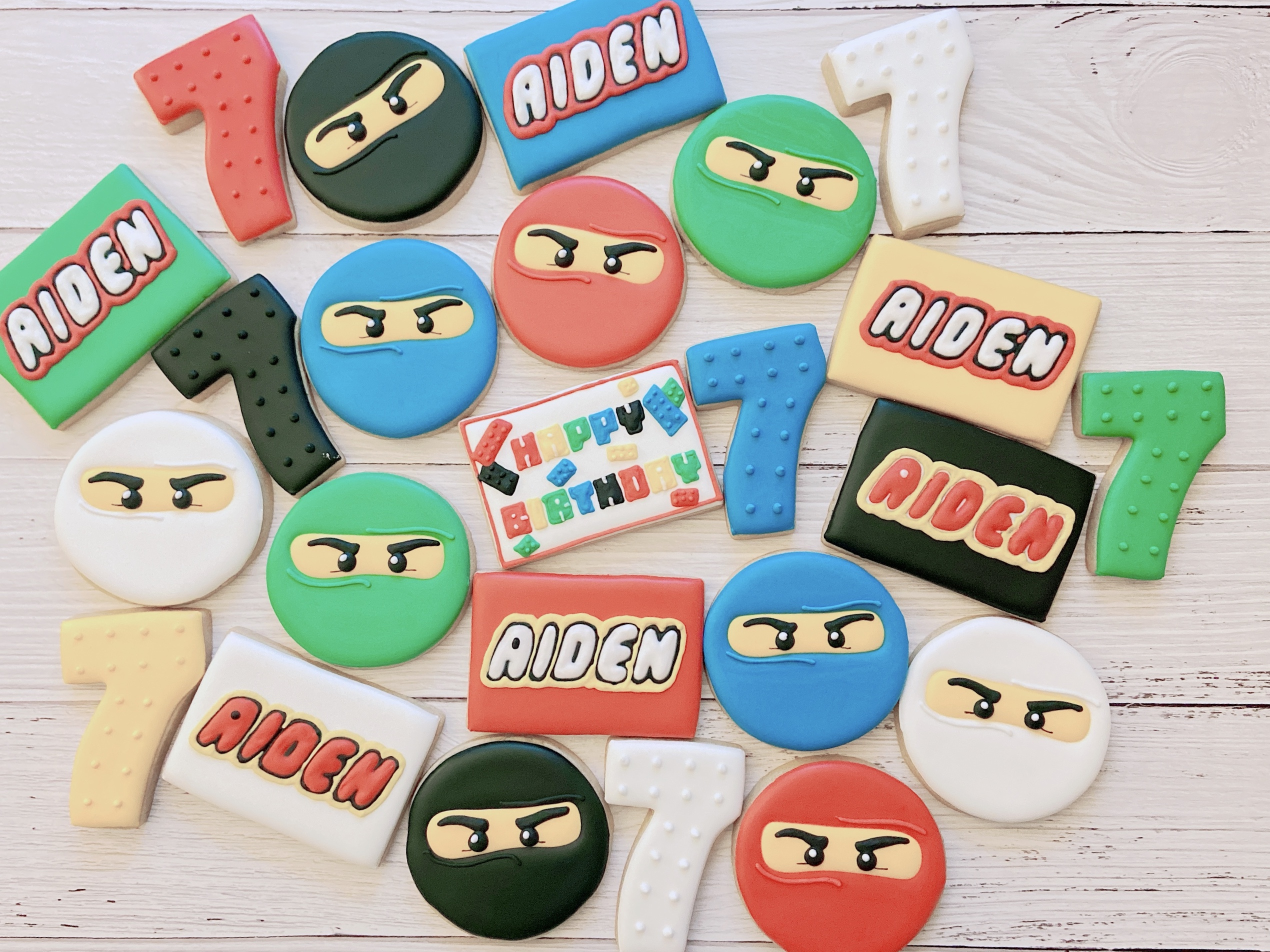 Ninjago Birthday Cookies