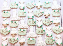 Sage Green Bridal Shower Cookies