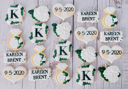 White and Gold Wedding Cookies