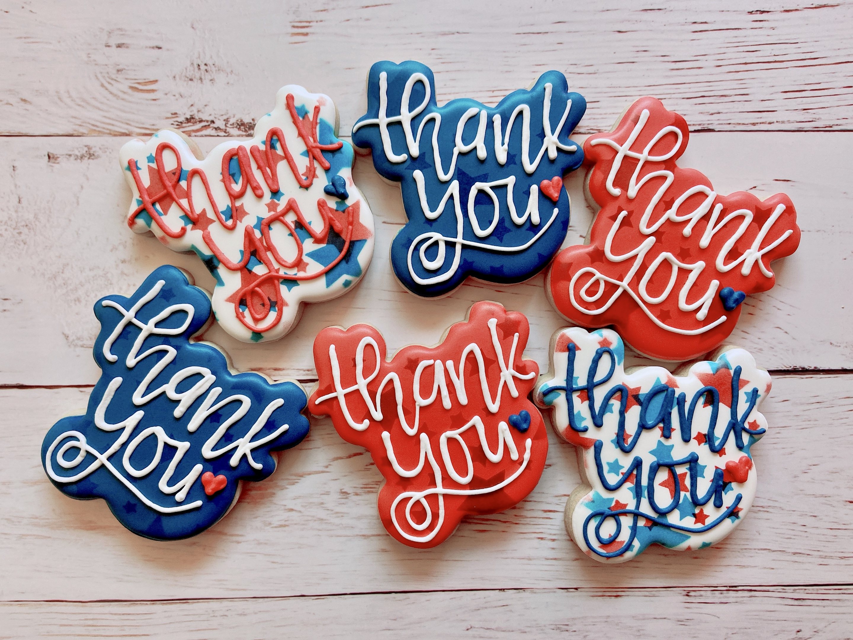 Americana Thank You Cookies