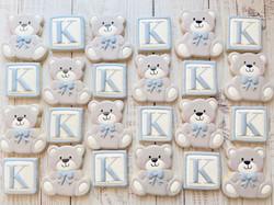 Blocks and Bears Baby Shower Cookies