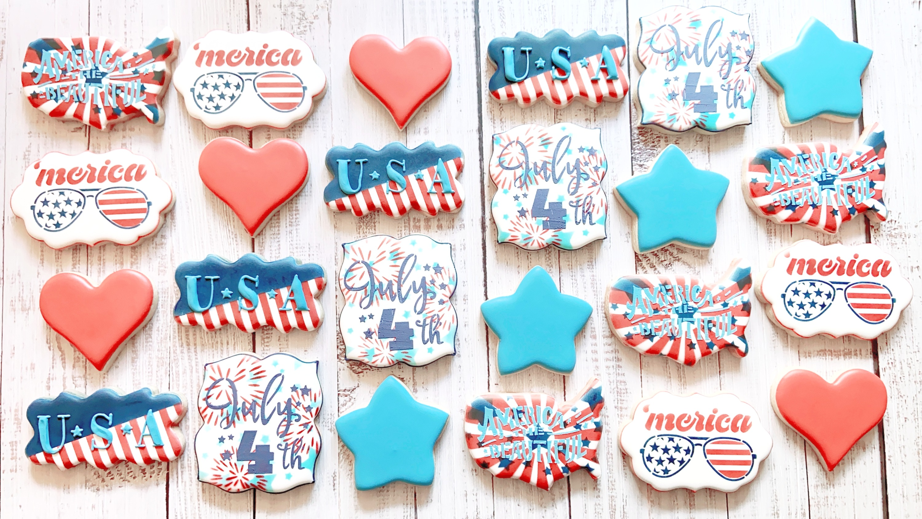 America July Fourth Cookies