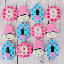 Spa Birthday Cookies