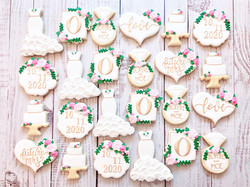 Pink and White Bridal Shower Cookies