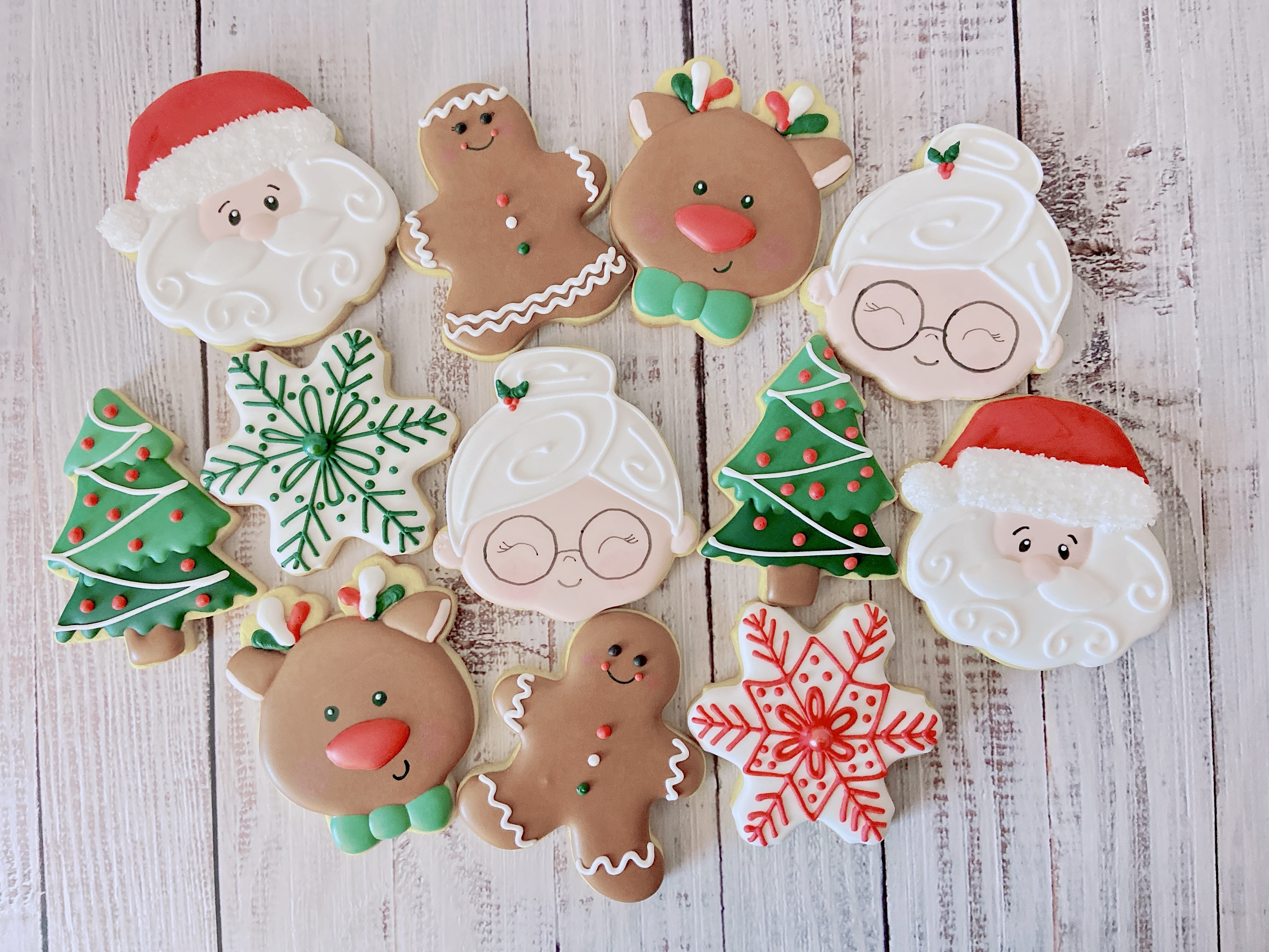 Santa and Friends Cookies