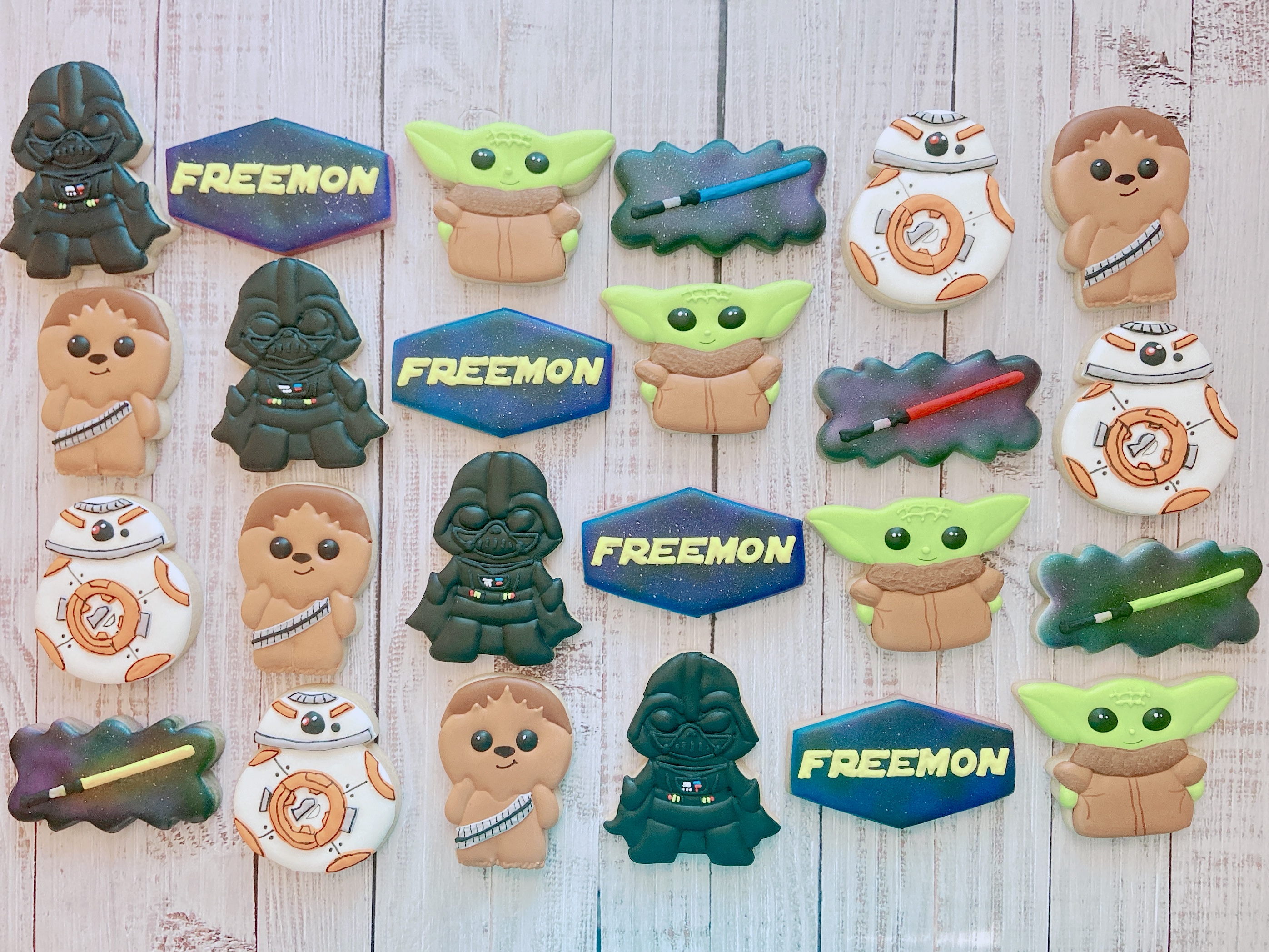 Star Wars Birthday Cookies