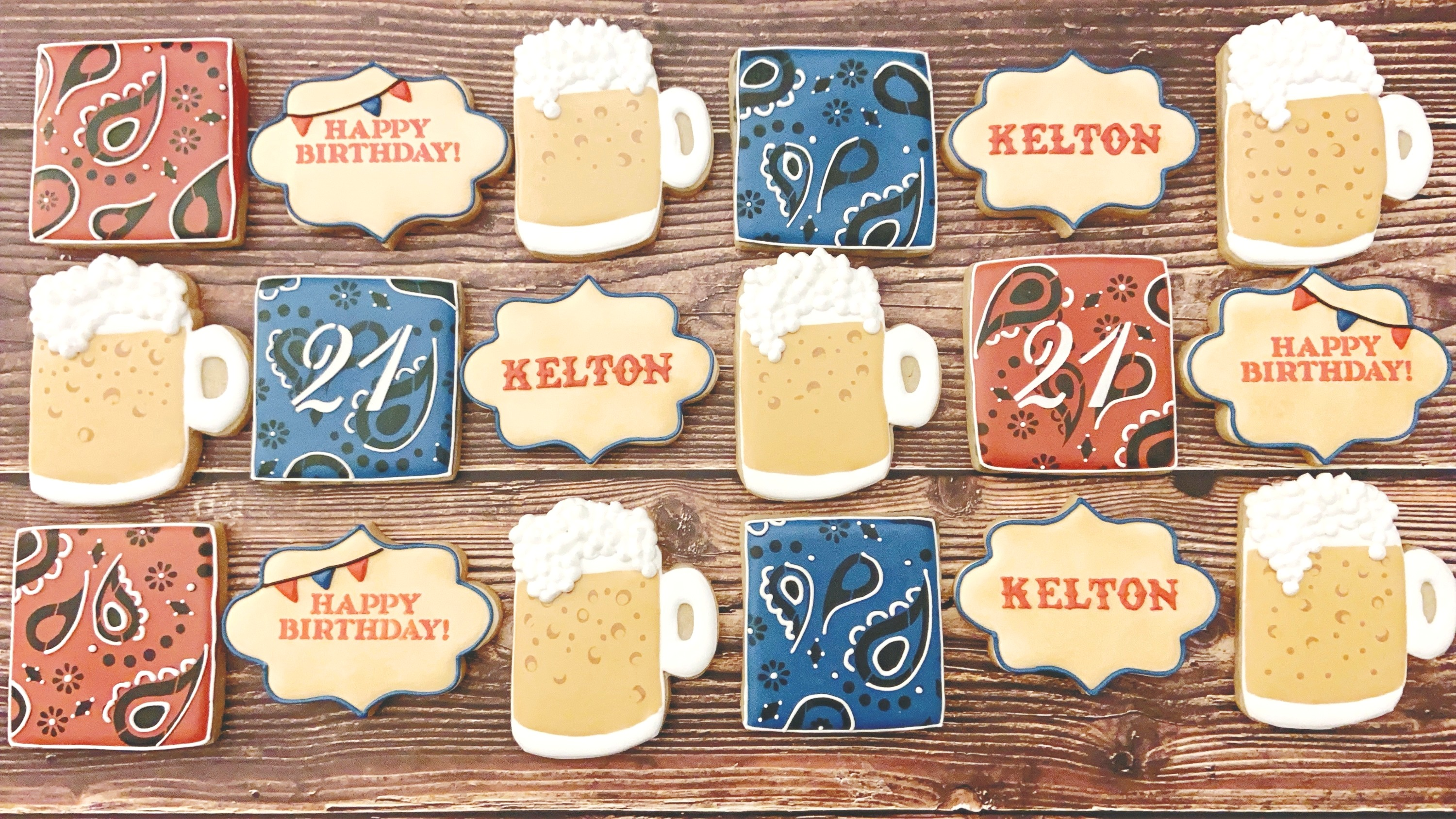 Rodeo 21st Birthday Cookies