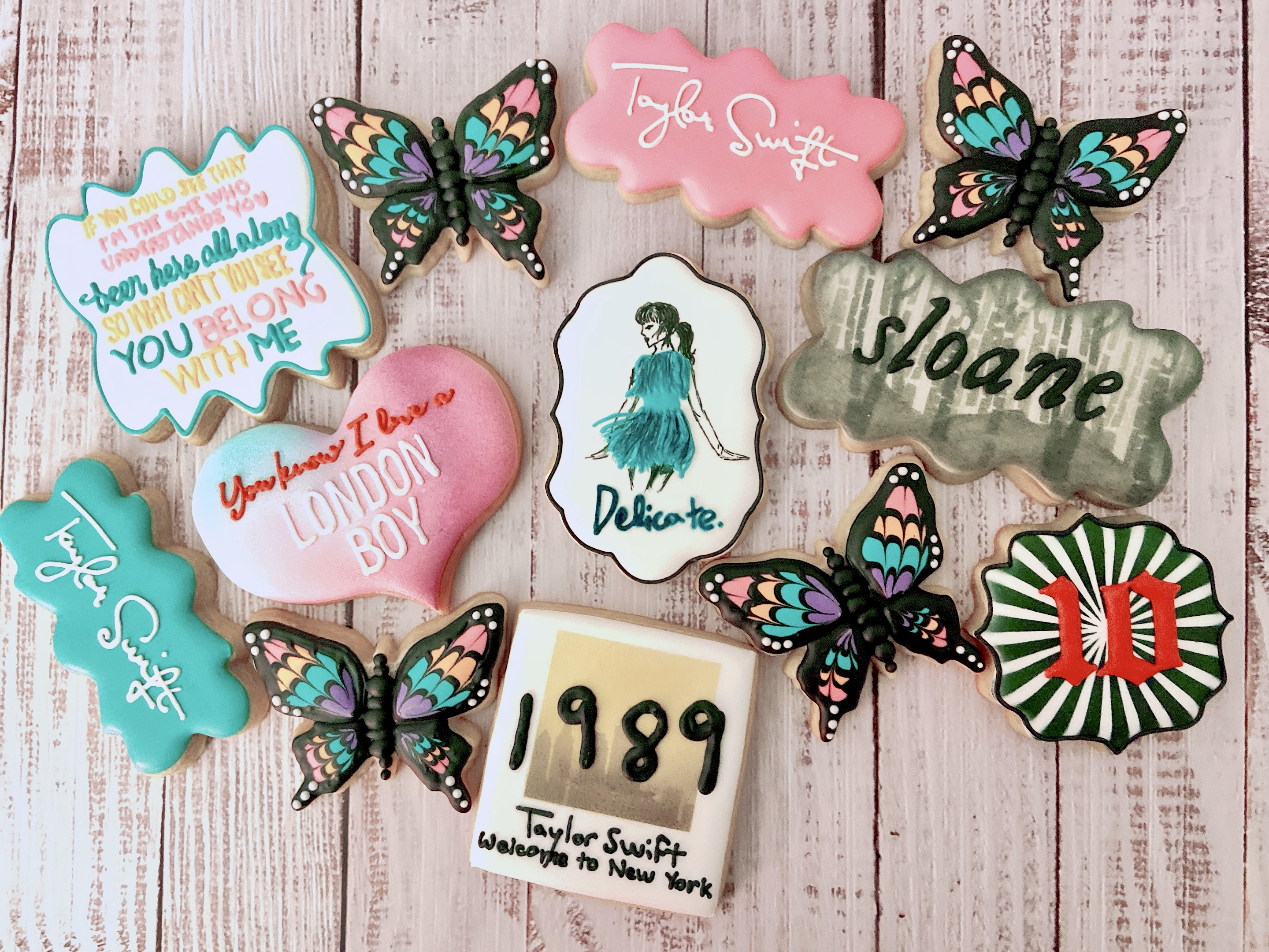 Taylor Swift 10th Birthday Cookies