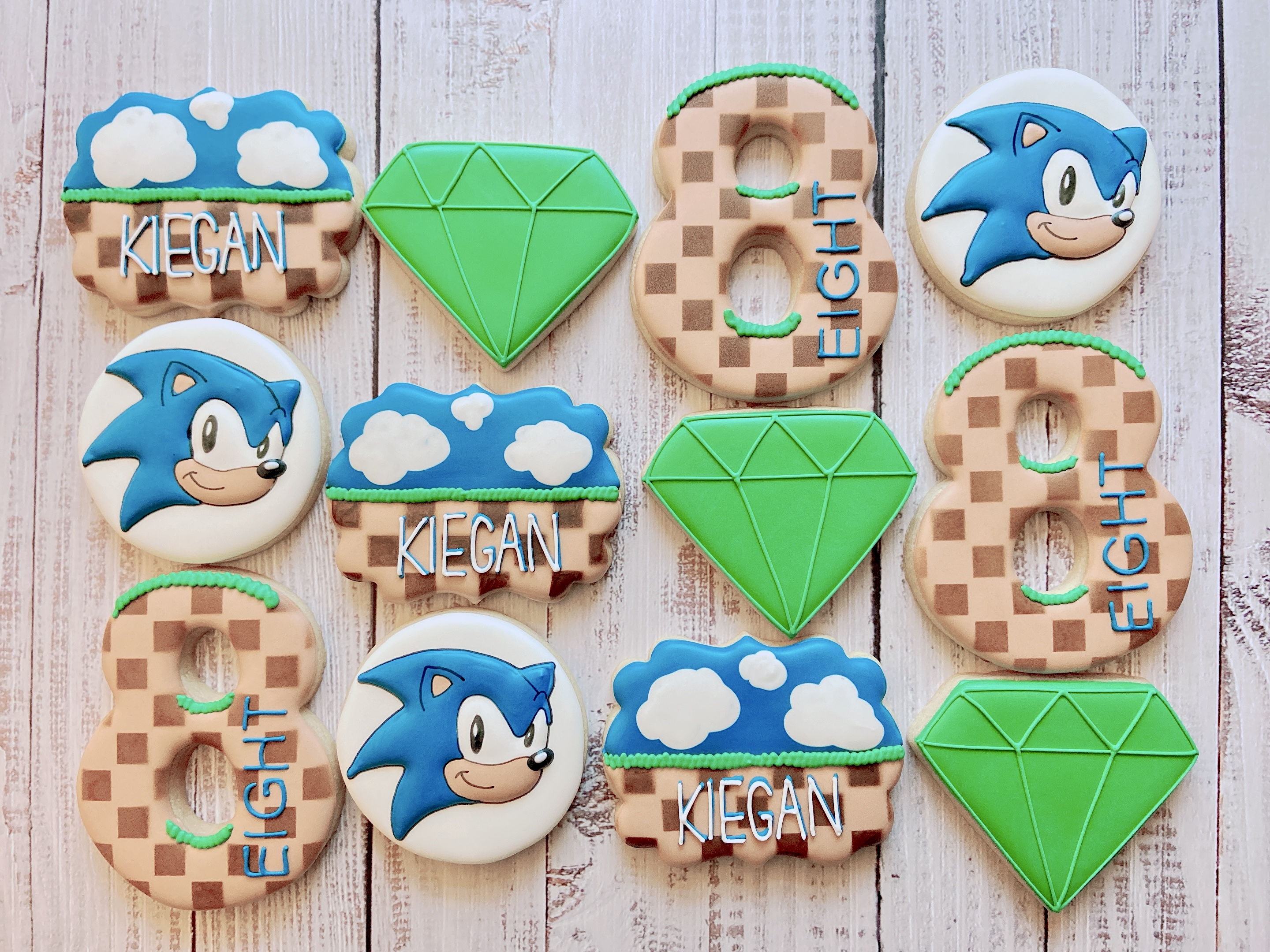 Sonic Birthday Cookies