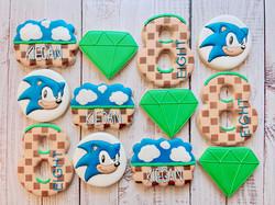 Sonic Birthday Cookies