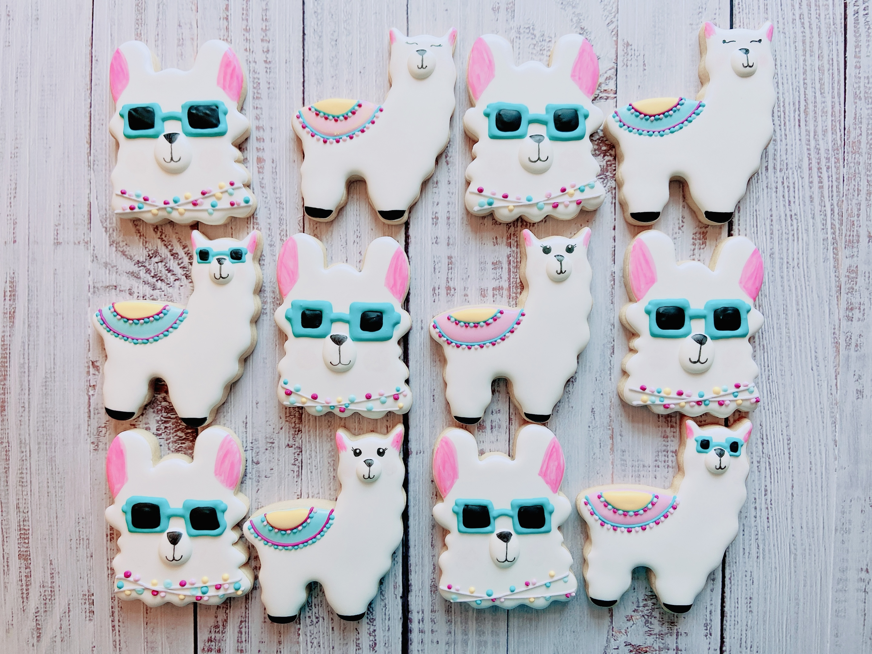 Llama Love Birthday Cookies
