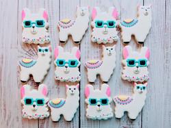 Llama Love Birthday Cookies