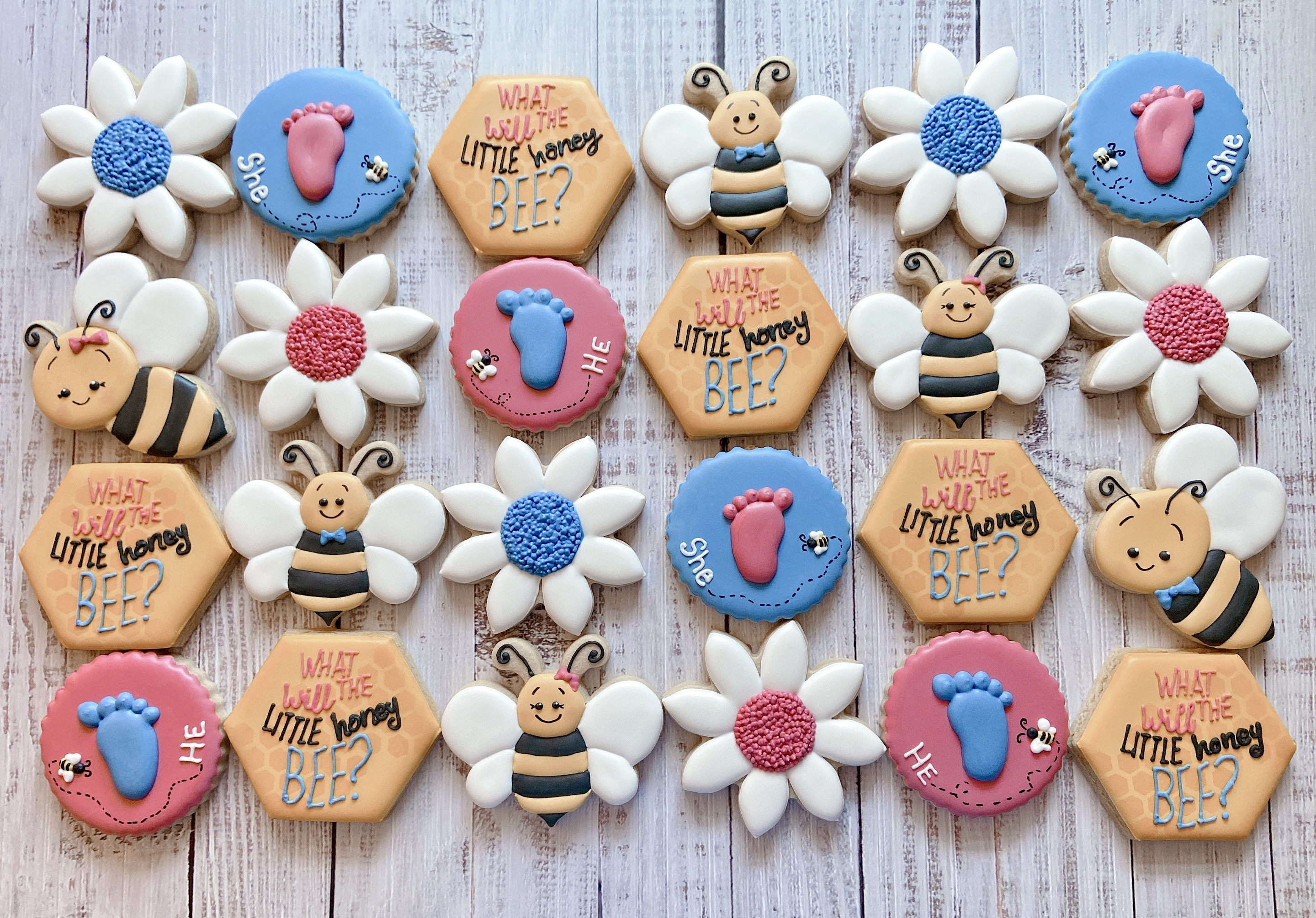 What Will Baby Bee? Gender Reveal Cookies