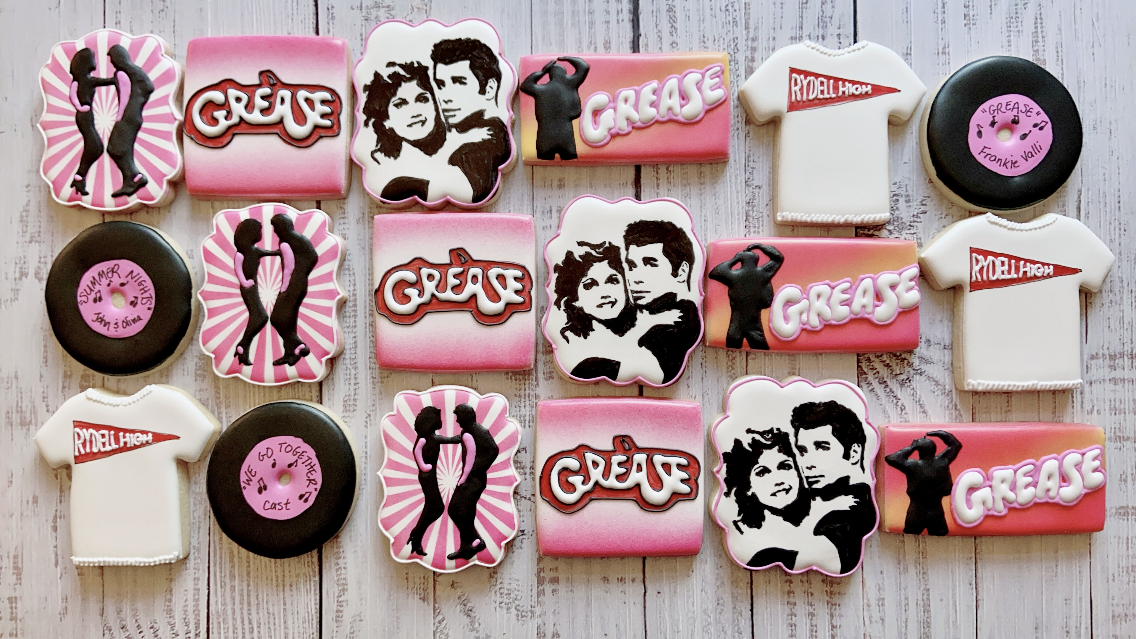 Grease Birthday Cookies