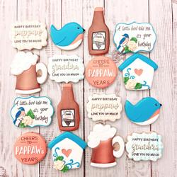 Bird-Day Beer-Day Birthday Cookies