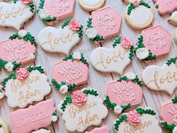 Pink Bridal Shower Cookies