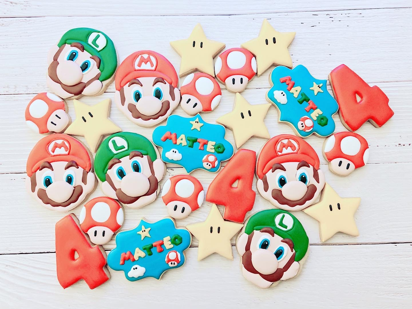Mario Birthday Cookies