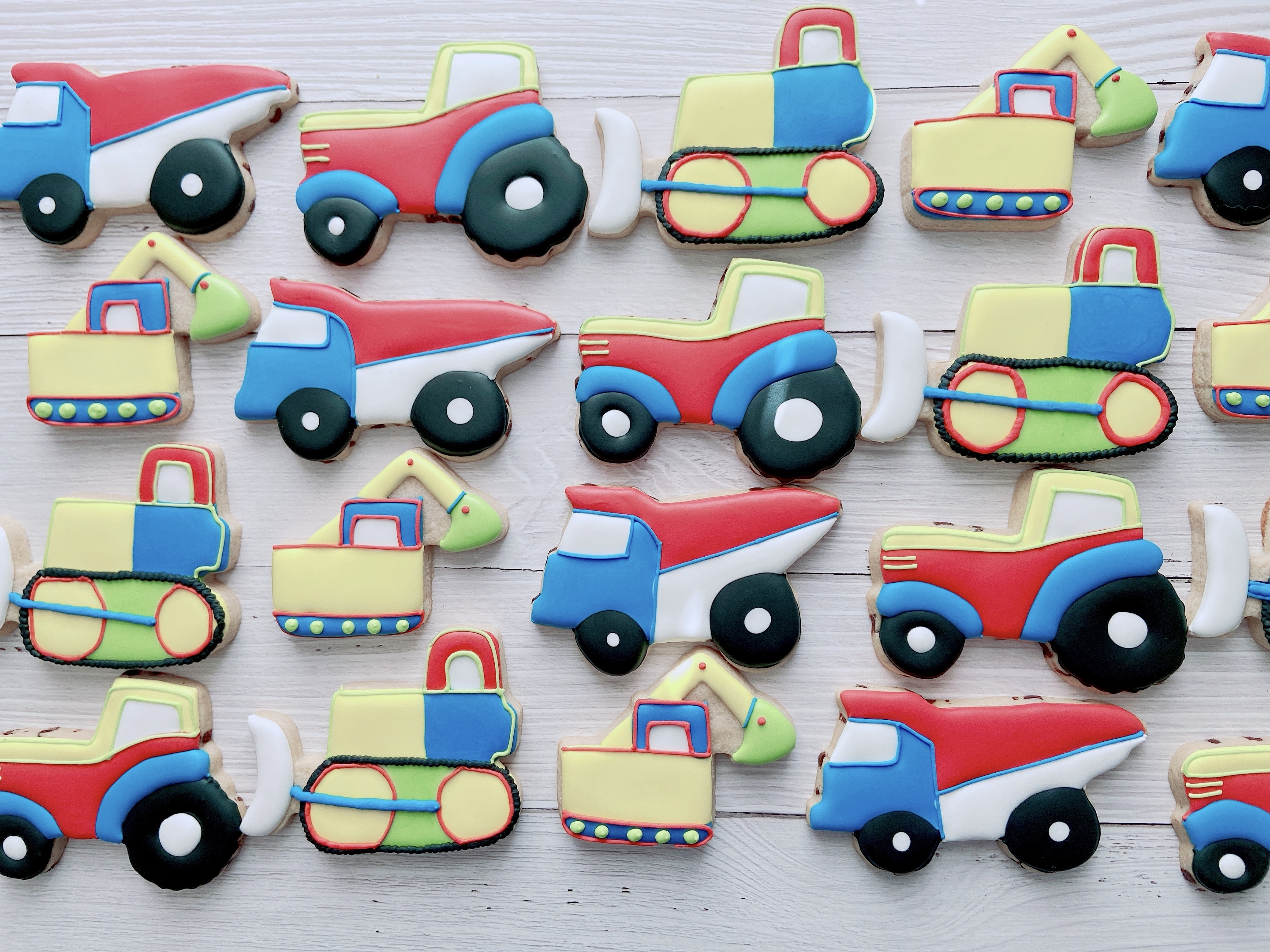 Construction Truck Birthday Cookies